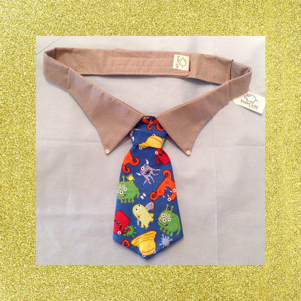 Mr Monster Mash Necktie Collar Set - Snort Life, Mini Pig Clothes