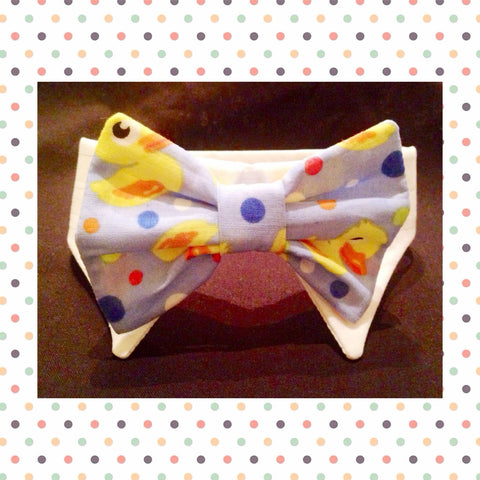 Rubber Ducky Shirt Collar Bow Tie Set - Snort Life, Mini Pig Clothes