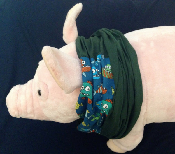 Piranha Nirvana T-Shirt Infinity Scarf - Snort Life, Mini Pig Clothes