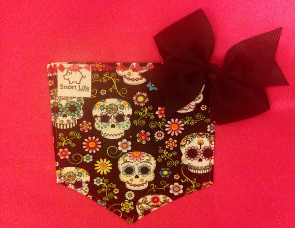 Sugar Skull Pocket Tee - Snort Life, Mini Pig Clothes