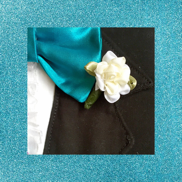 Oinktastic Creme Boutonniere - Snort Life, Mini Pig Clothes