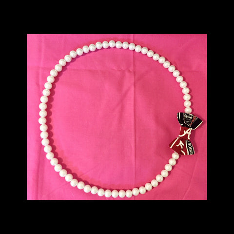 Collegiate Pride Pearl Necklace (14mm) - Snort Life, Mini Pig Clothes