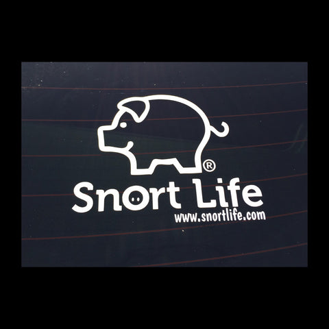 Snort Life Car Decal - Snort Life, Mini Pig Clothes