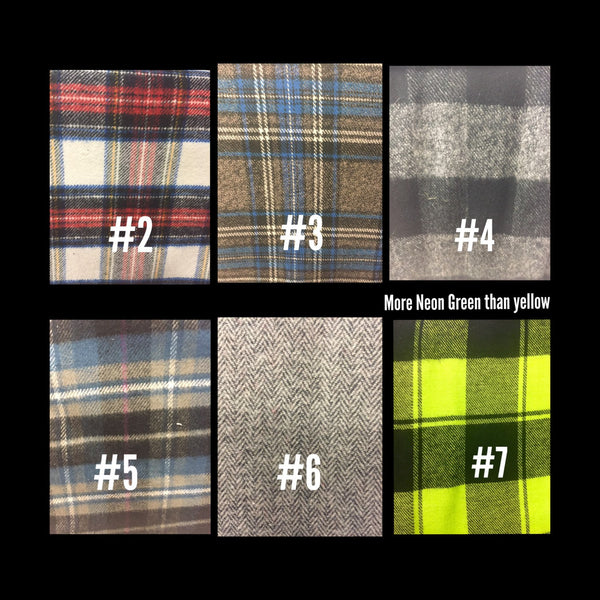 Newsboy Plaid Shirt Collar Bow Tie Set--11 Fabric Options - Snort Life  - 5