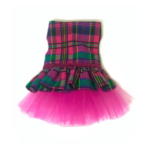 Plaid Pizzazz Tutu Dress - Snort Life  - 1