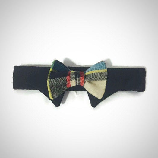 Newsboy Plaid Shirt Collar Bow Tie Set--11 Fabric Options - Snort Life  - 2