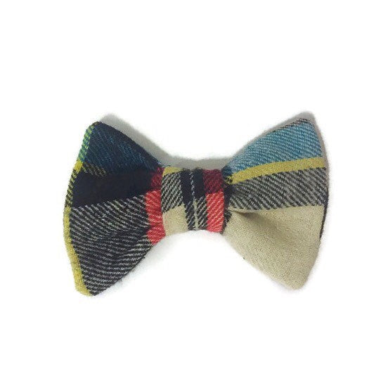 Newsboy Plaid Shirt Collar Bow Tie Set--11 Fabric Options - Snort Life  - 3