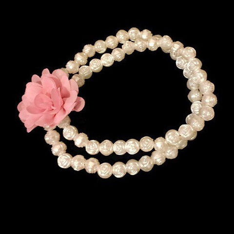Double Strand Rose Pearl Necklace (10mm) - Snort Life  - 1