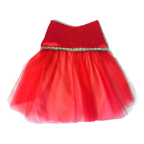 Lady In Red Rhinestone Dress - Snort Life, Mini Pig Clothes