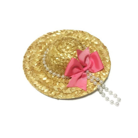 Sunday Best Pearl Wicker Hat--Ready To Ship - Snort Life  - 1