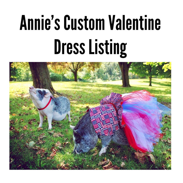 Annie Oinkley's Custom Valentine Dress Listing