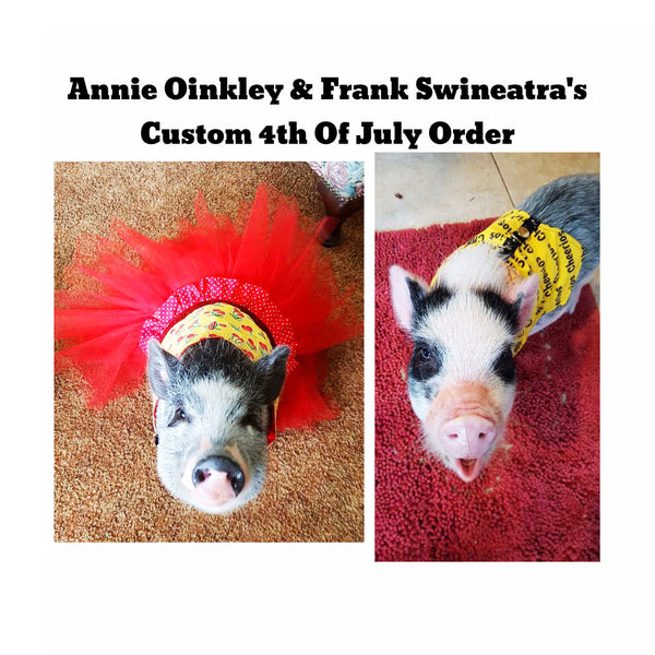 Annie Oinkley & Frank Swineatra's Custom 4th Of July Order - Snort Life