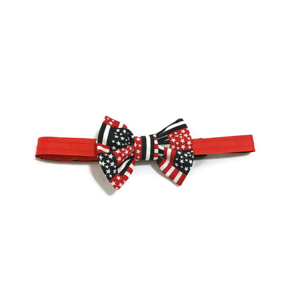 Patriotic Party Boy Pants & Bow Tie Collar Set - Snort Life  - 3
