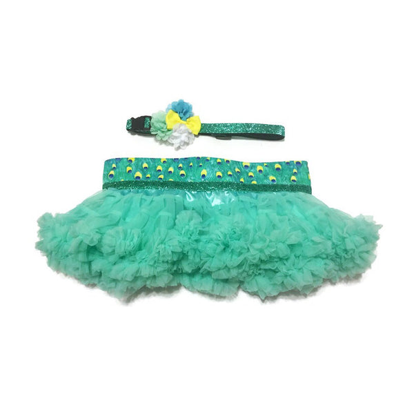 Peacock Diva Skirt & Collar Set - Snort Life  - 1