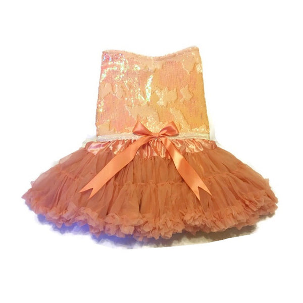 Peach Mermaid Diva Tutu Dress - Snort Life  - 1