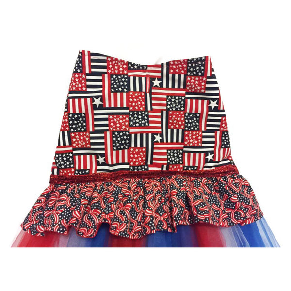 Miss Red, White & Blue Tutu Dress - Snort Life  - 3