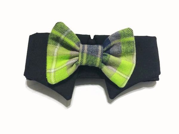 Newsboy Plaid Shirt Collar Bow Tie Set--11 Fabric Options - Snort Life  - 1