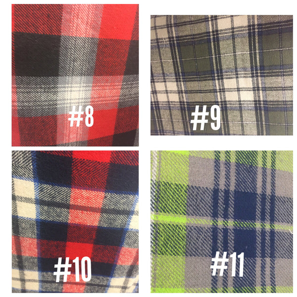 Newsboy Plaid Shirt Collar Bow Tie Set--11 Fabric Options - Snort Life  - 6