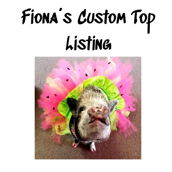 Fiona's Custom Top Listing
