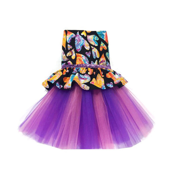 Peace, Love & Tie-Dye Tutu Dress - Snort Life  - 1