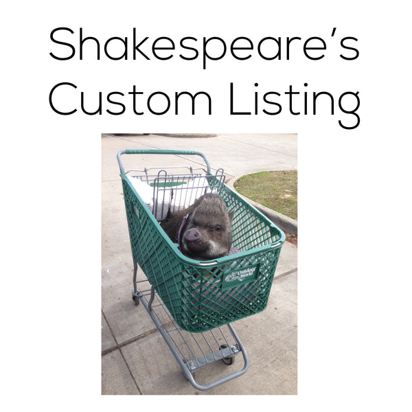Shakespeare's Custom Listing