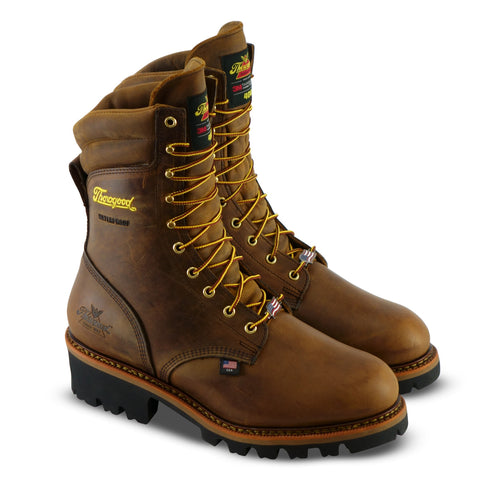 Thorogood® 9″ BROWN TRAIL CRAZYHORSE – INSULATED – WATERPROOF – VIBRAM OUTSOLE (U.S.A. Built) [804-3554]
