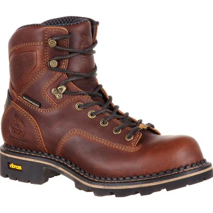 Georgia Boot® Comfort Core Low Heel Logger Waterproof Composite Toe Work Boot [GB00164]