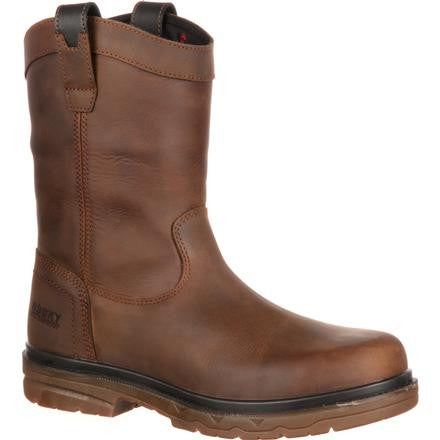 Rocky® Men's Elements Shale Steel Toe Waterproof Wellington