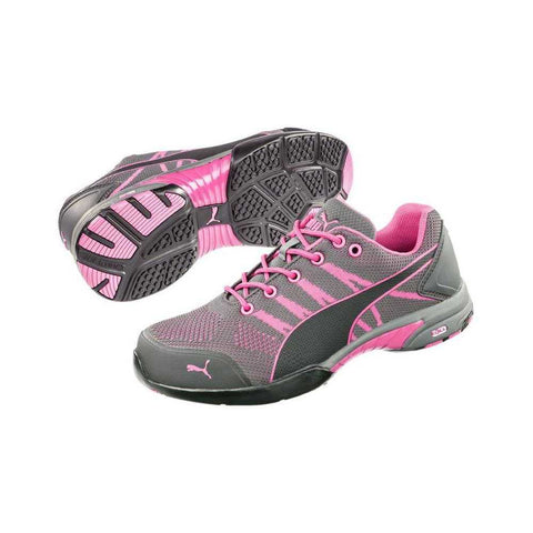 Puma® Women's Celerity Pink Steel Toe Knit Shoes [642915]