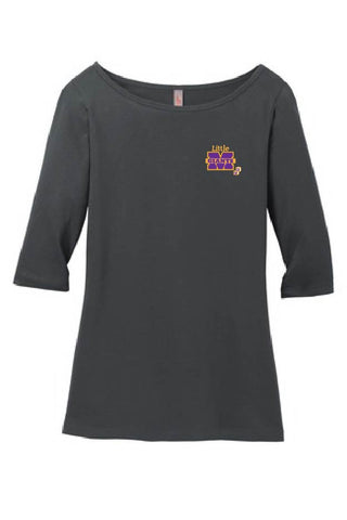 Marion Little Giants Ladies 3/4 Sleeve Boatneck Shirt - DM107L (Two Color)