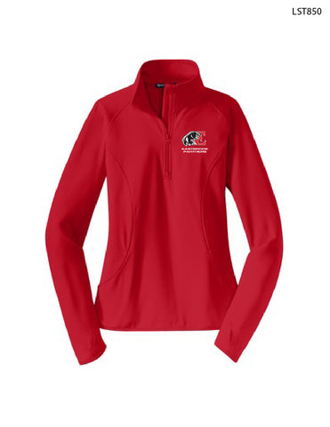 Sport-Tek® Ladies Sport-Wick® Stretch 1/2-Zip Pullover (Embroidered)