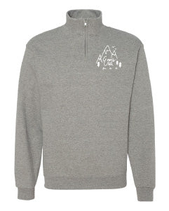 Evans Hall Quarter-Zip Cadet Collar Sweatshirt - 995MR - Oxford Grey