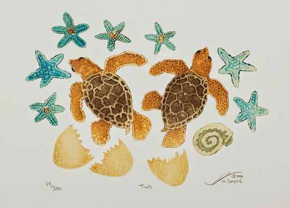 Two - Baby Sea Turtles
