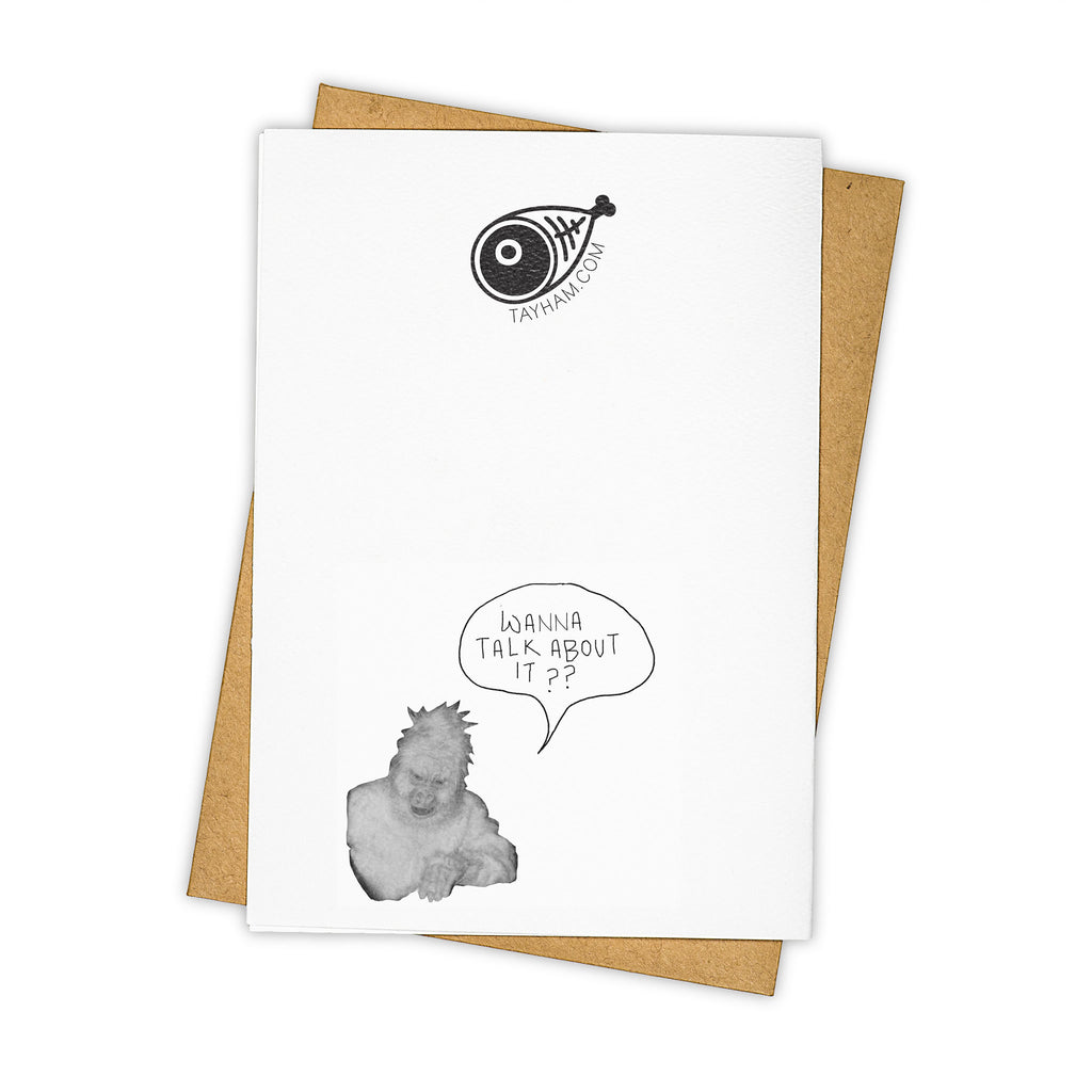 TAY HAM Bill Murray Ghostbusters Call Me Greeting Card Back