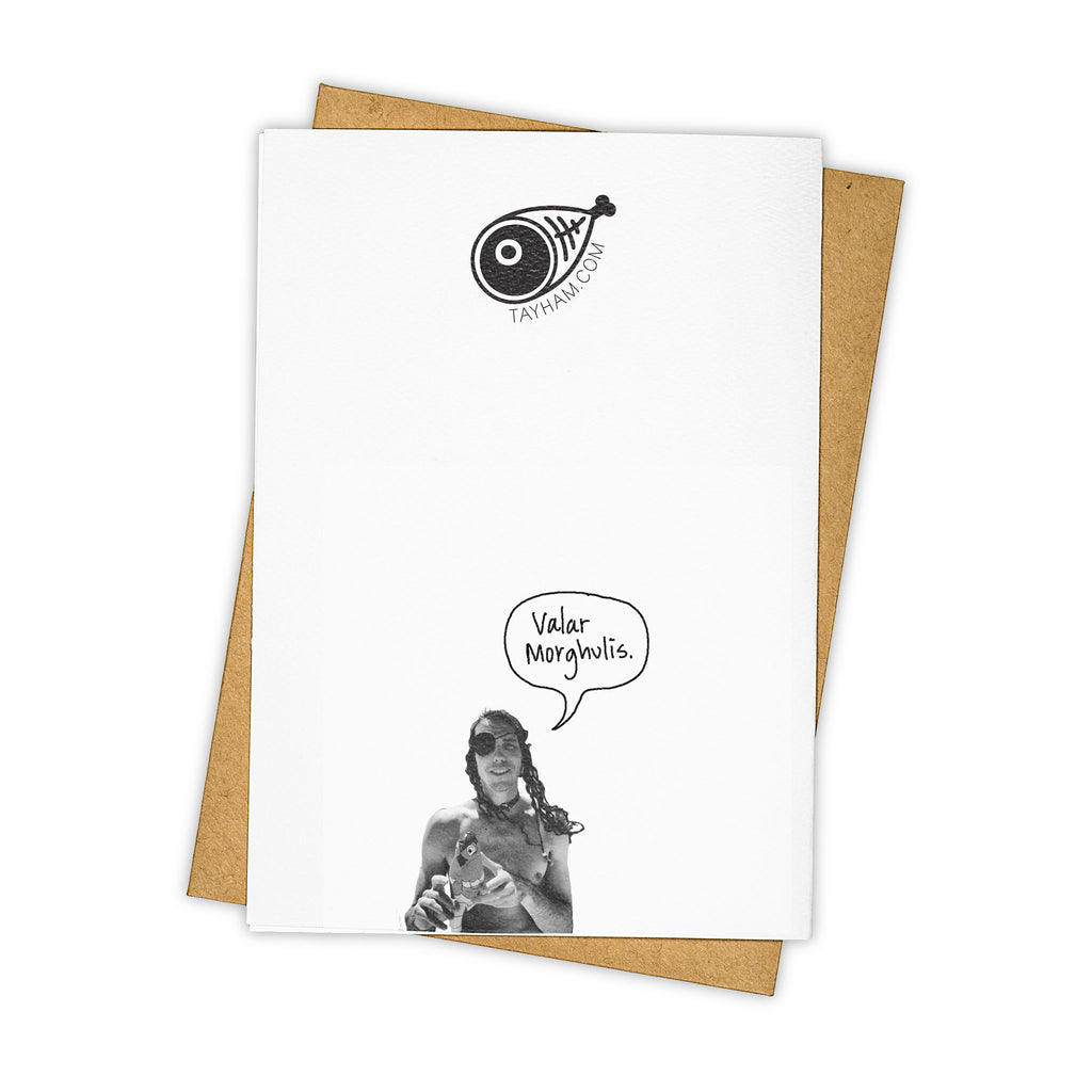 TAY HAM Game of Thrones Arya Stark Greeting Card Back