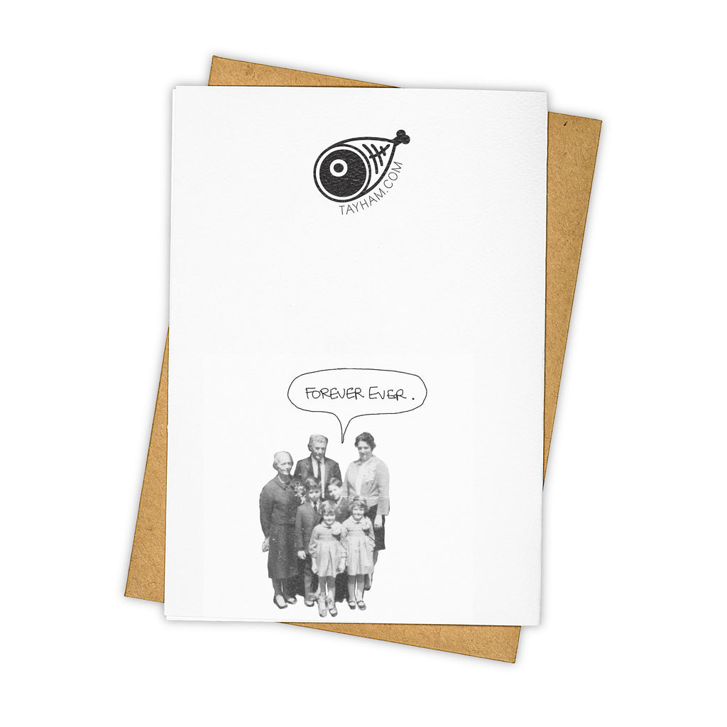 TAY HAM Beetlejuice Lydia Deetz Wedding Together Forever Greeting Card Back