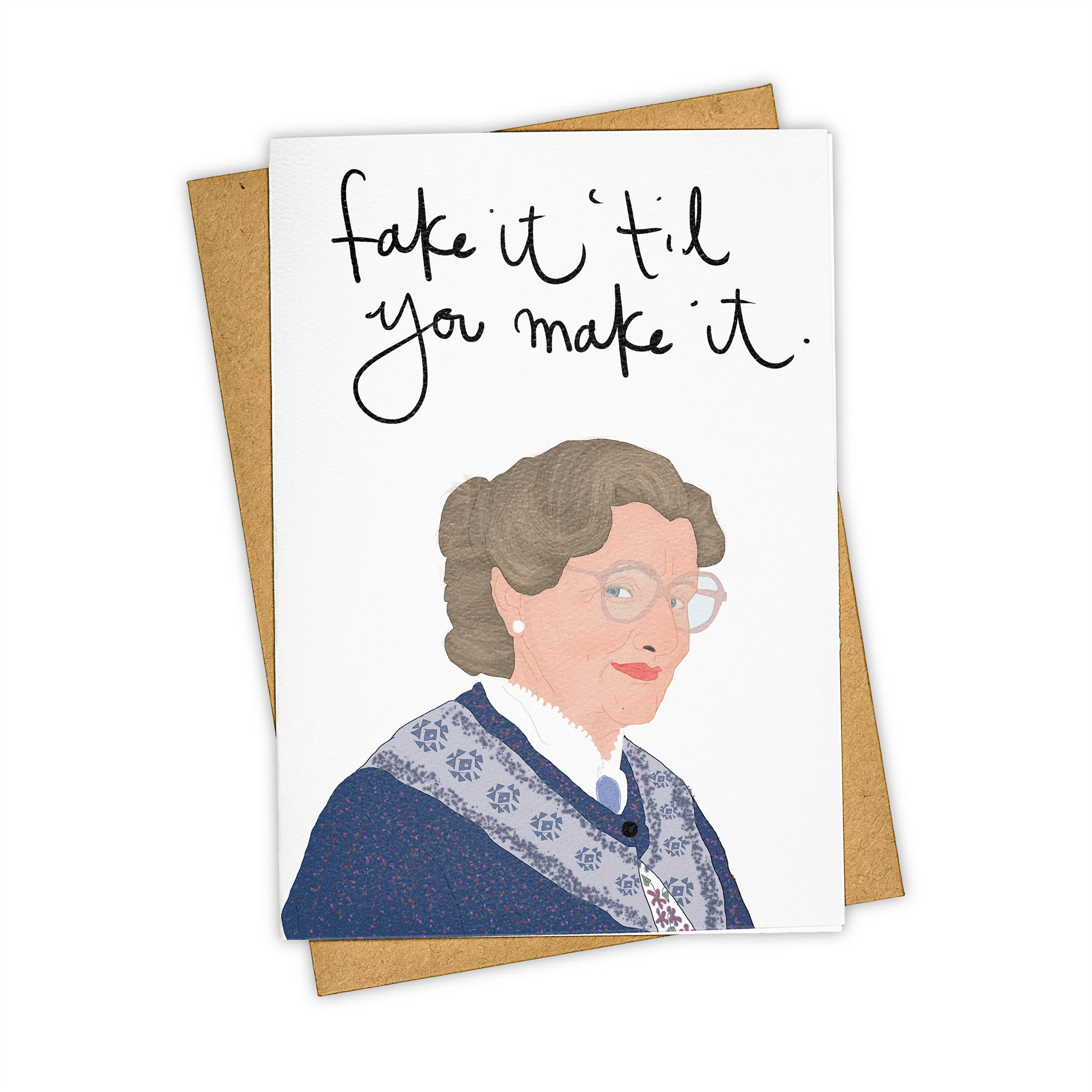 TAY HAM Robin Williams Mrs Doubtfire Greeting Card
