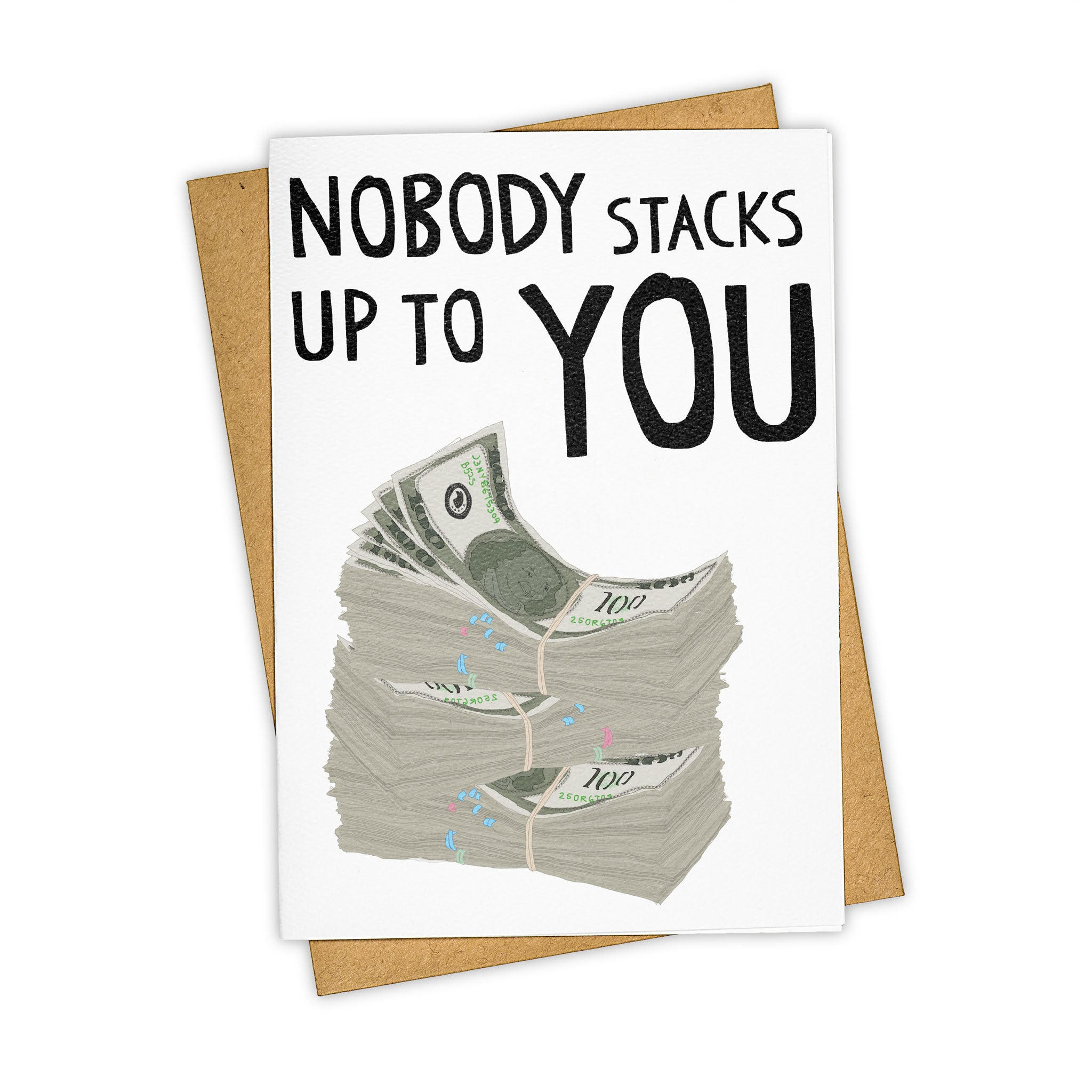 TAY HAM Cash Stacks WU Tang Greeting Card CREAM
