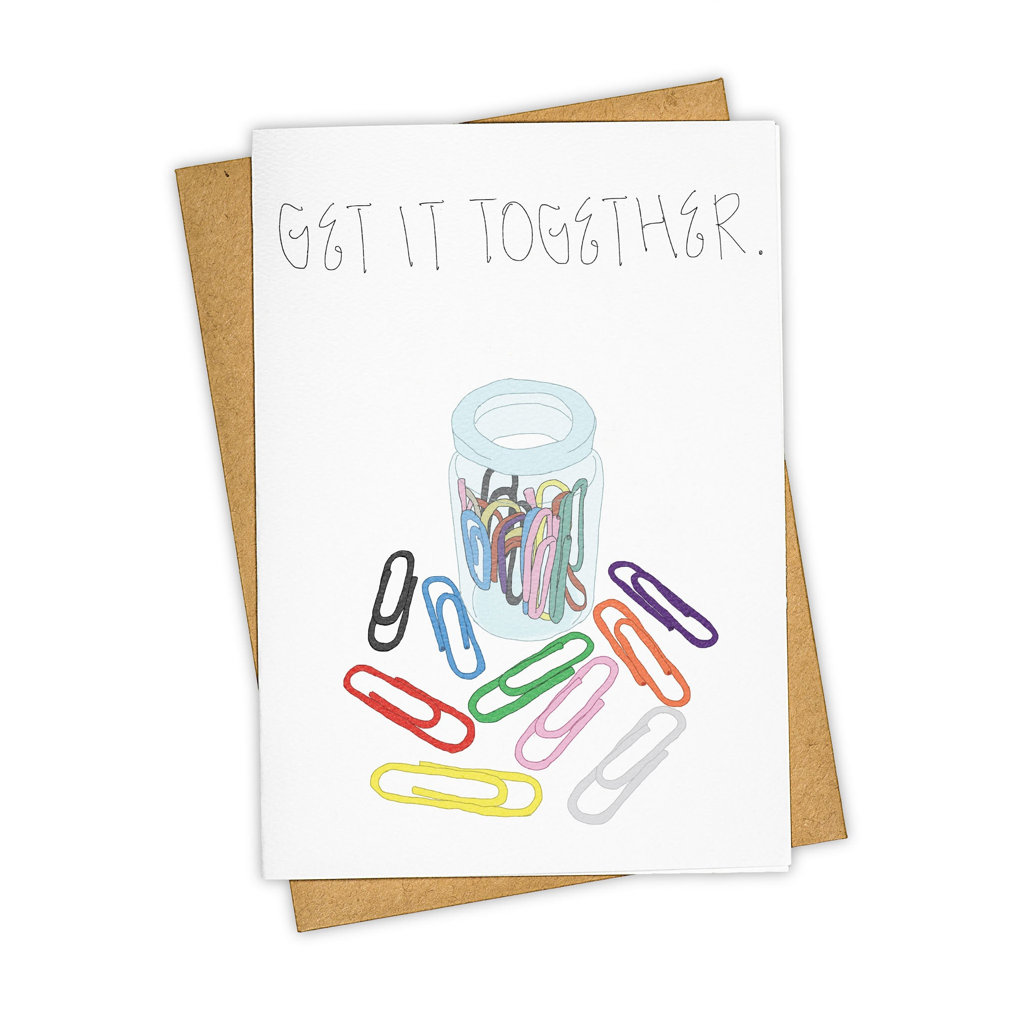 TAY HAM New Job Paper Clips Greeting Card