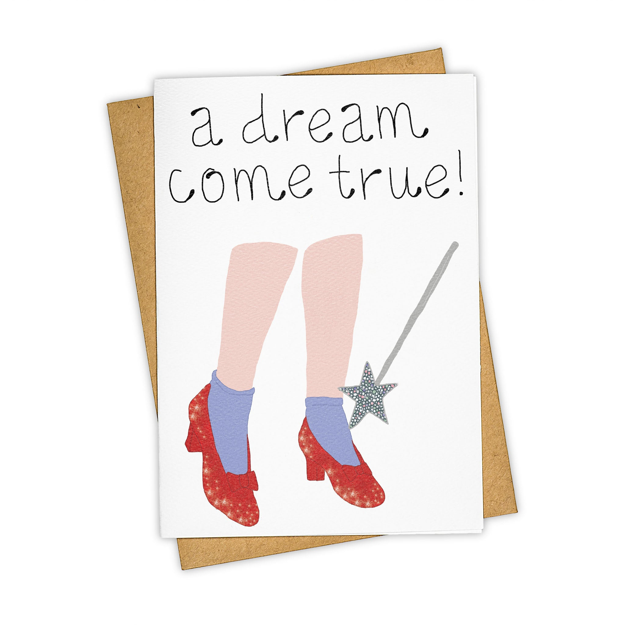 TAY HAM Wizard of Oz Ruby Slippers Greeting Card