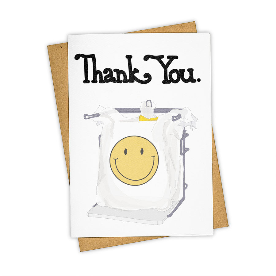 TAY HAM Thank You Recycle Grocery Bag Greeting Card