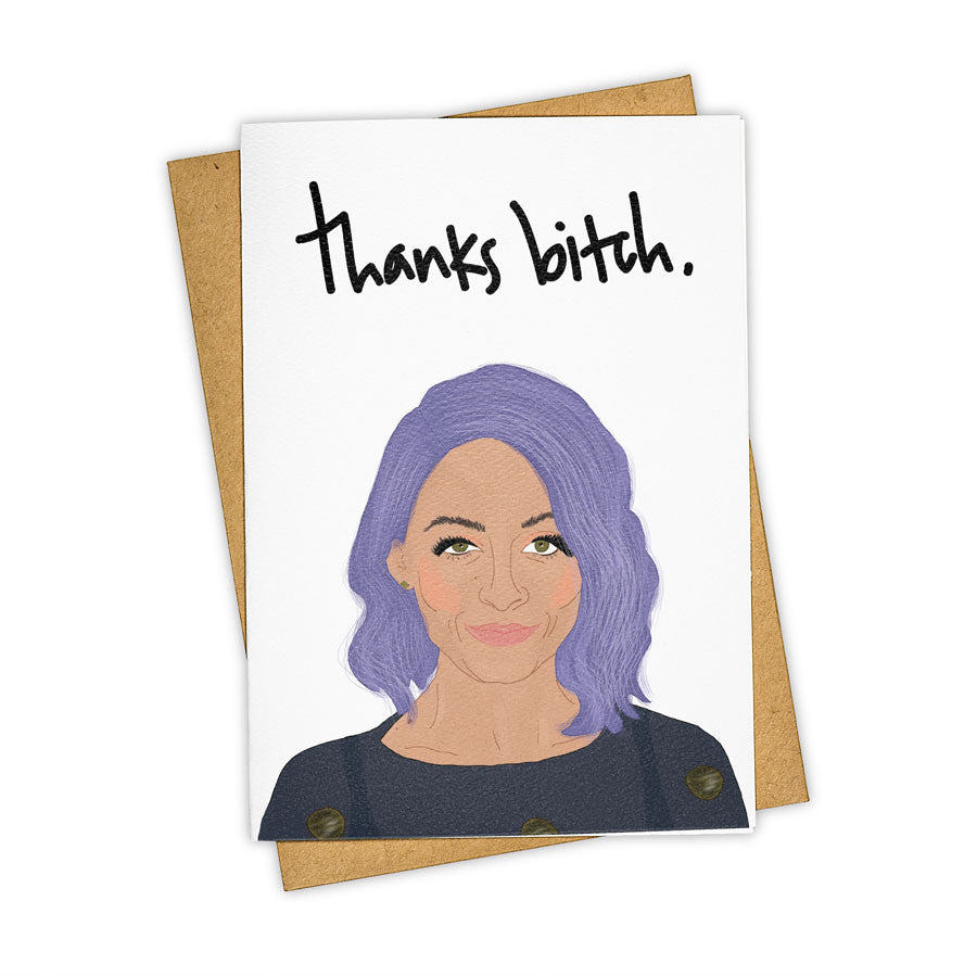 TAY HAM Nicole Richie Candidly Nicole Thanks Bitch Simple Life Card