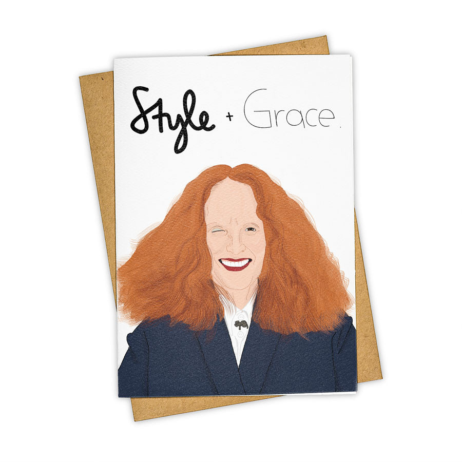 TAY HAM Vogue Grace Coddington Fashion Card