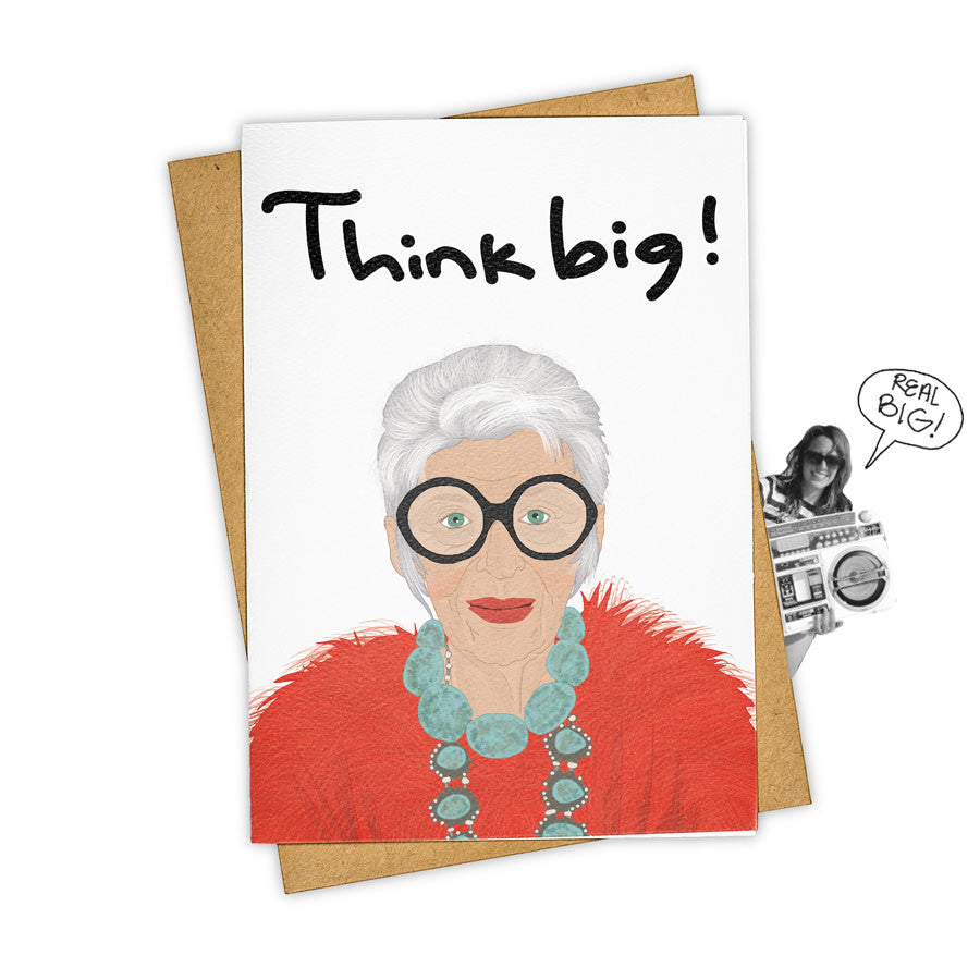 TAY HAM Iris Apfel Advanced Style Sunglasses Big Greeting Card
