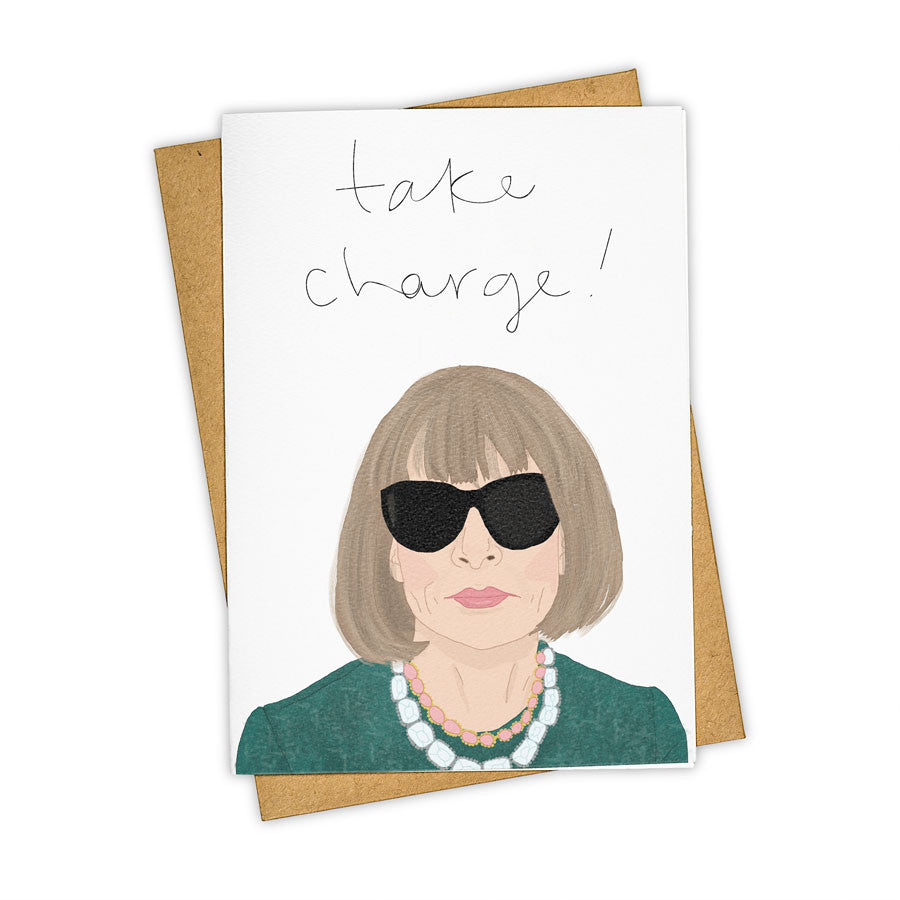 TAY HAM Vogue Anna Wintour Devil Wears Prada Greeting Card