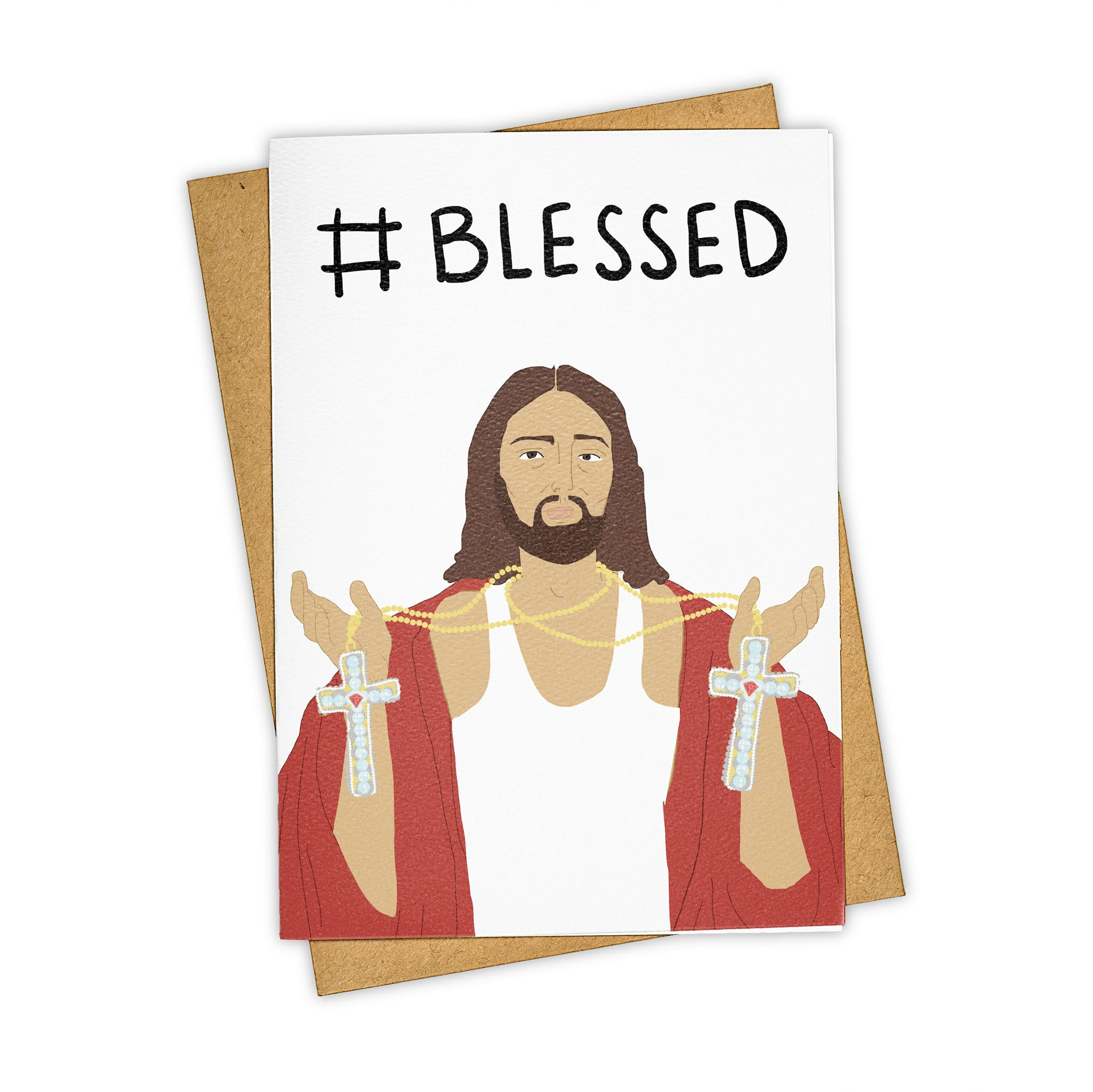TAYHAM Jesus Blessed #Blessed Pop Culture Greeting Card