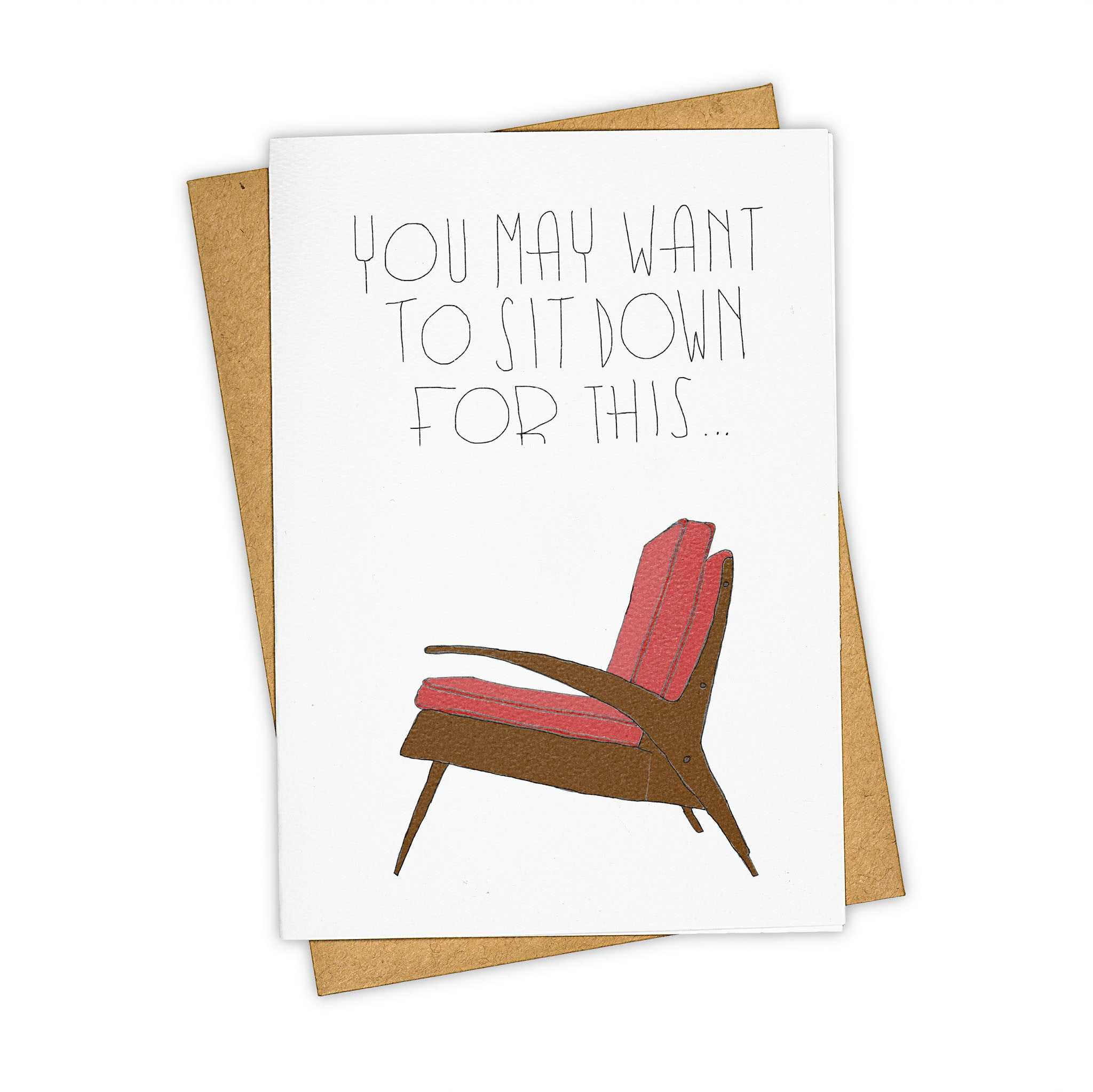 TAY HAM Mid Century Modern VIntage Chair Sit Down Greeting Card