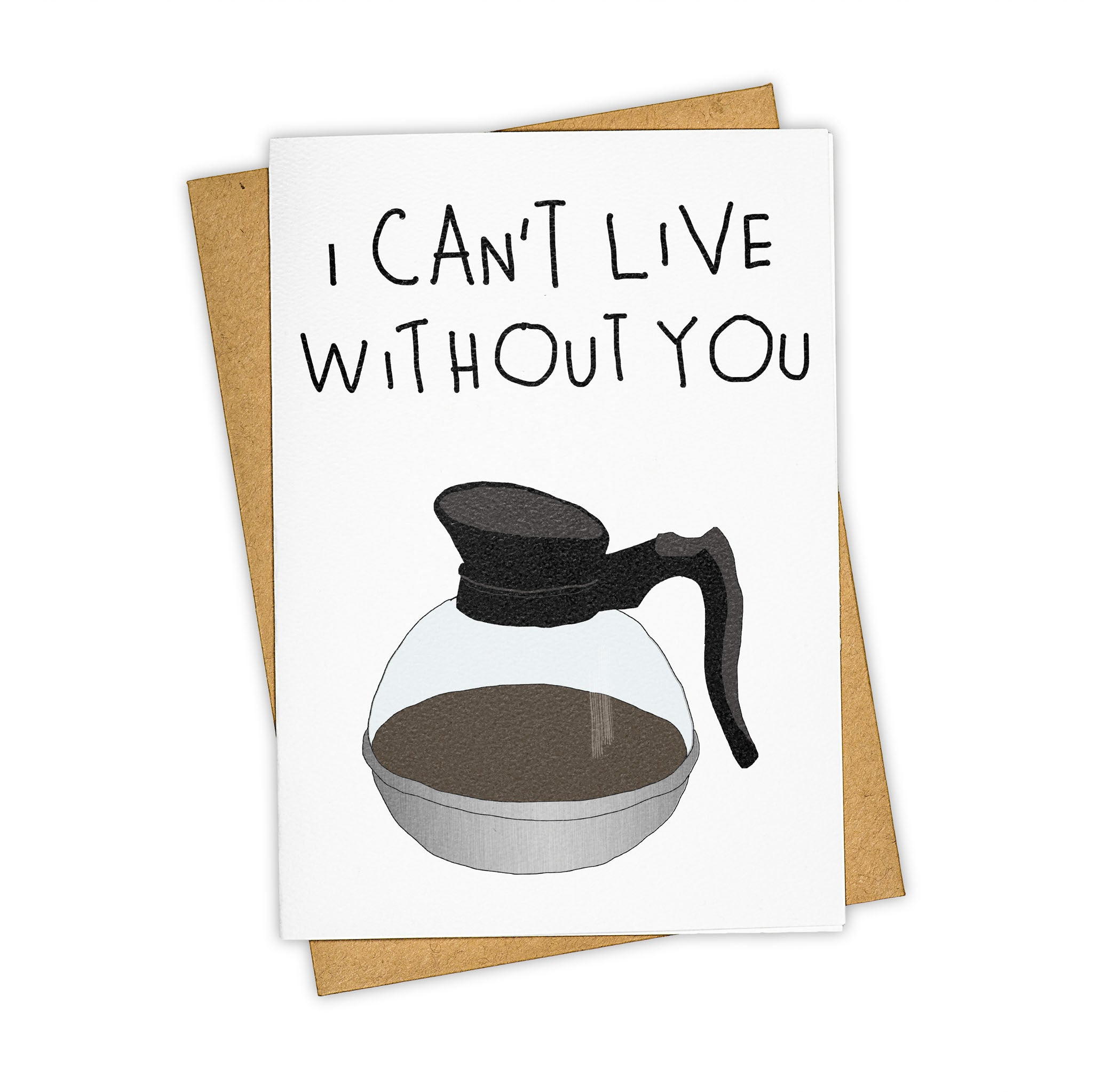 TAY HAM Coffee French Press Caffeine Greeting Card Love
