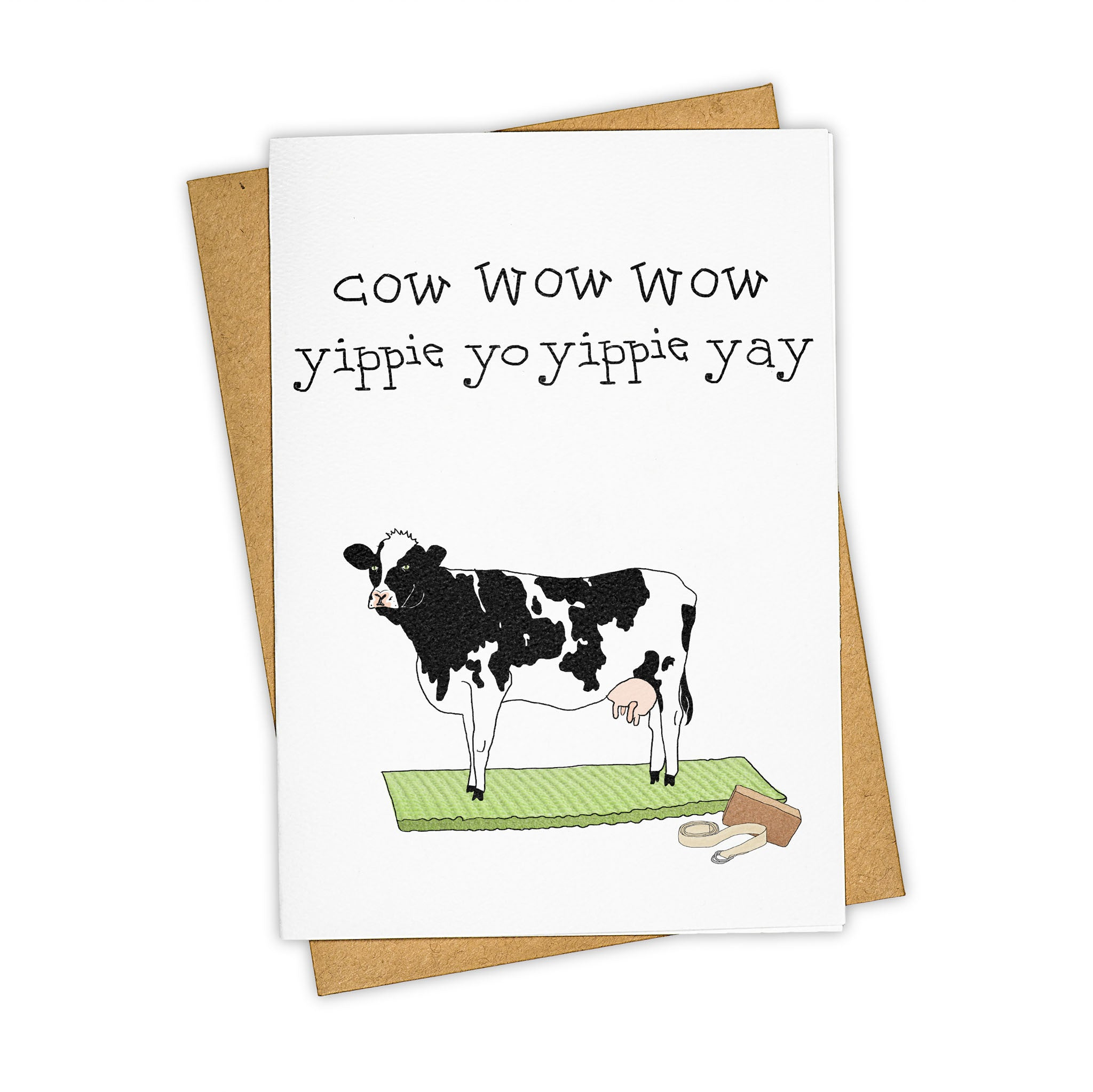 TAY HAM Yoga Inspired Cow Greeting Card