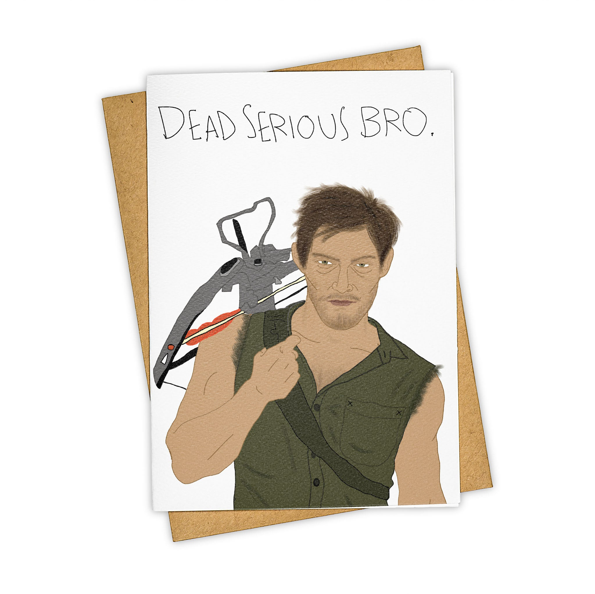 TAY HAM Walking Dead Daryl Dixon Greeting Card